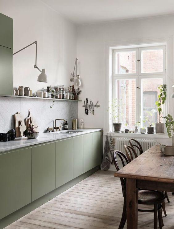 secondo esempio cucina scandinava verde